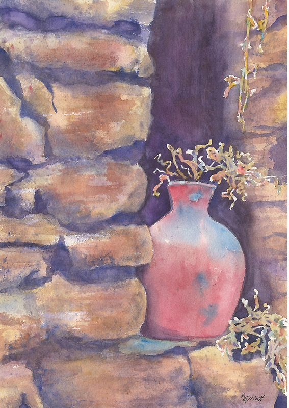 Peruvian Pot by Marsha Elliott