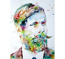SIGMUND FREUD - watercolor portrait Photographic Print