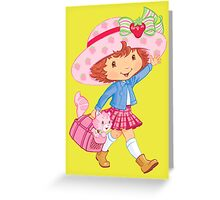 Little Girl and Kitten Greeting Card