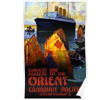 Orient Vintage Travel Poster Restored Poster