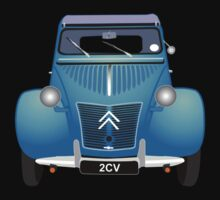 Citroën 2CV Blue (with gradients) One Piece - Short Sleeve