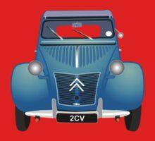 Citroën 2CV Blue (with gradients) Kids Tee
