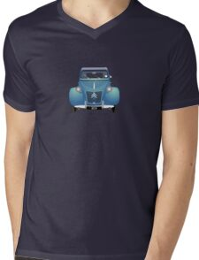 Citroën 2CV Blue (with gradients) Mens V-Neck T-Shirt