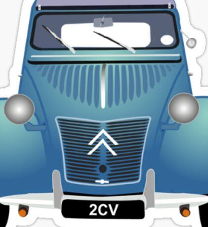 Citroën 2CV Blue (with gradients) Sticker