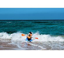 Only to overcome the wave Photographic Print