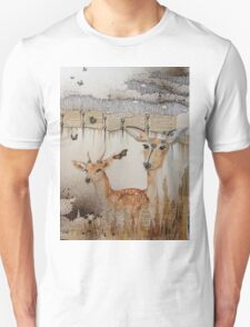 doe and fawn Unisex T-Shirt