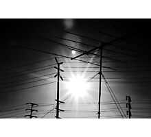 Antennas and Telephone Poles Photographic Print