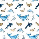 Sea mammals pattern by Macy Wong