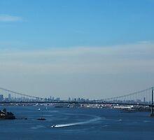 Whitestone Bridge (Panorama) by Gilda Axelrod