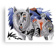 lobo and crow for stevo Canvas Print