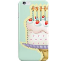Birthday Cake with Candle iPhone Case/Skin