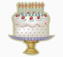 Birthday Cake with Candle Baby Tee