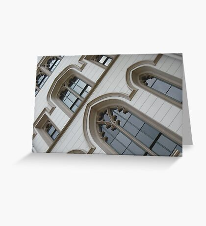 A Gothic Slant - Old Capitol, Baton Rouge, LA Greeting Card