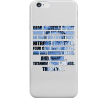 The Fast And The Furious Jesse Grace V2 RIP Paul Walker iPhone Case/Skin