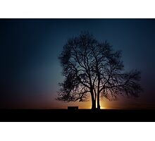 At the end of the day Photographic Print