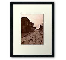 Pompei - una citta romana Framed Print