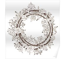 Rose wreath Poster