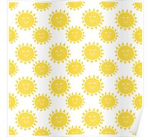 A Day at The Seaside - Bright Yellow Sunshine Poster