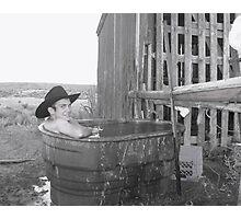 Cowboy's Bath Tub Photographic Print