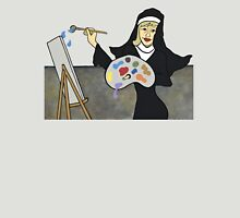 Wildago's Painting Nun Womens Fitted T-Shirt