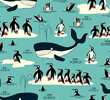 Whales, Penguins and other friends by BessoChicca