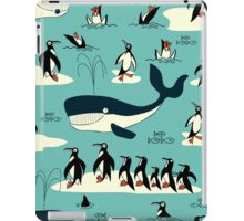 Whales, Penguins and other friends iPad Case/Skin