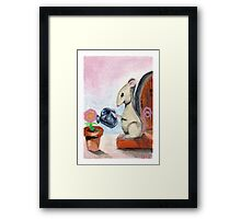 Miss Mouse Tends House Framed Print