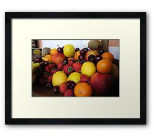 Future Fruit Salad Framed Print
