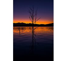 Colourful sunset at Lake Moogerah in Queensland Photographic Print