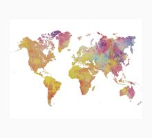 World Map Pastel Kids Tee