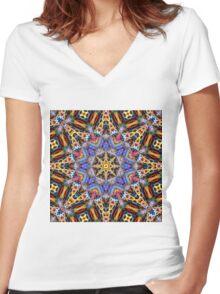 Kaleidoscope Challenge Women's Fitted V-Neck T-Shirt