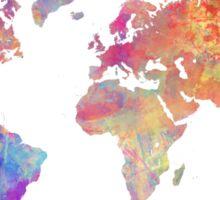 World Map Violet Sticker