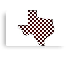 Texas College Maroon and White Canvas Print