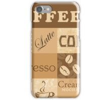 Coffee print for coffee addicted. iPhone Case/Skin
