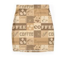 Coffee print for coffee addicted. Mini Skirt