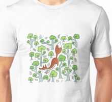 Fox in the summer forest Unisex T-Shirt