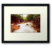 Wheel of Fire Waterpool Framed Print