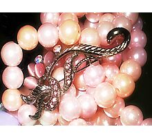 Pretty Pink Pearls  Photographic Print