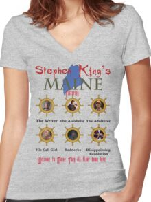 Stephen King's Maine Women's Fitted V-Neck T-Shirt