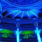 Bordeaux Theatre: The auditorium in blue light by bubblehex08