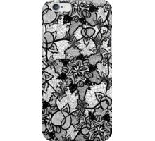Elegant floral black hand drawn lace pattern iPhone Case/Skin