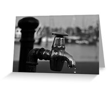 Turn off the tap..! Greeting Card