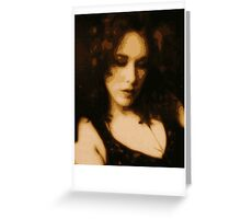 Face Of A Woman 2 Greeting Card