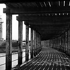 Under the pier, Whitby by Chas Bedford