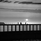 Monochrome sunset, Whitby by Chas Bedford