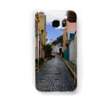 Dazzling Caribbean Colors - a Street in San Juan, Puerto Rico Samsung Galaxy Case/Skin