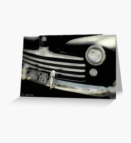 BLACK CARS Greeting Card