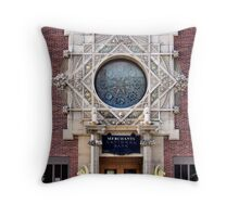 Merchants National Bank, Grinnell, Iowa, Louis Sullivan Throw Pillow