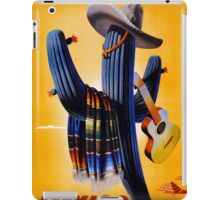 Mexico Vintage Travel Poster Restored iPad Case/Skin