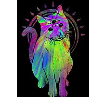 Psychic Psychedelic Cat Photographic Print